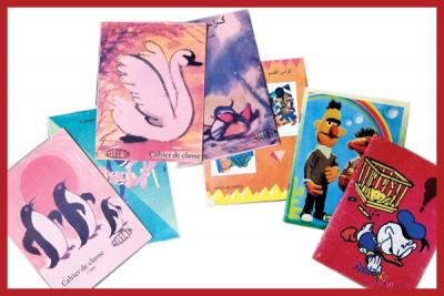 Notre collection de cahiers vintage des années 80!